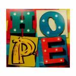 Tela Impressa  com Led l Hope Fullway - 100x100x4 cm