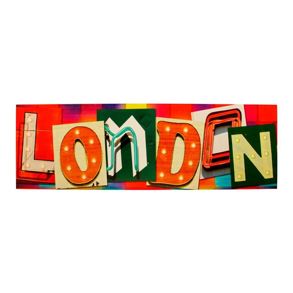Tela Impressa com Led London Fullway - 50x150x4 cm