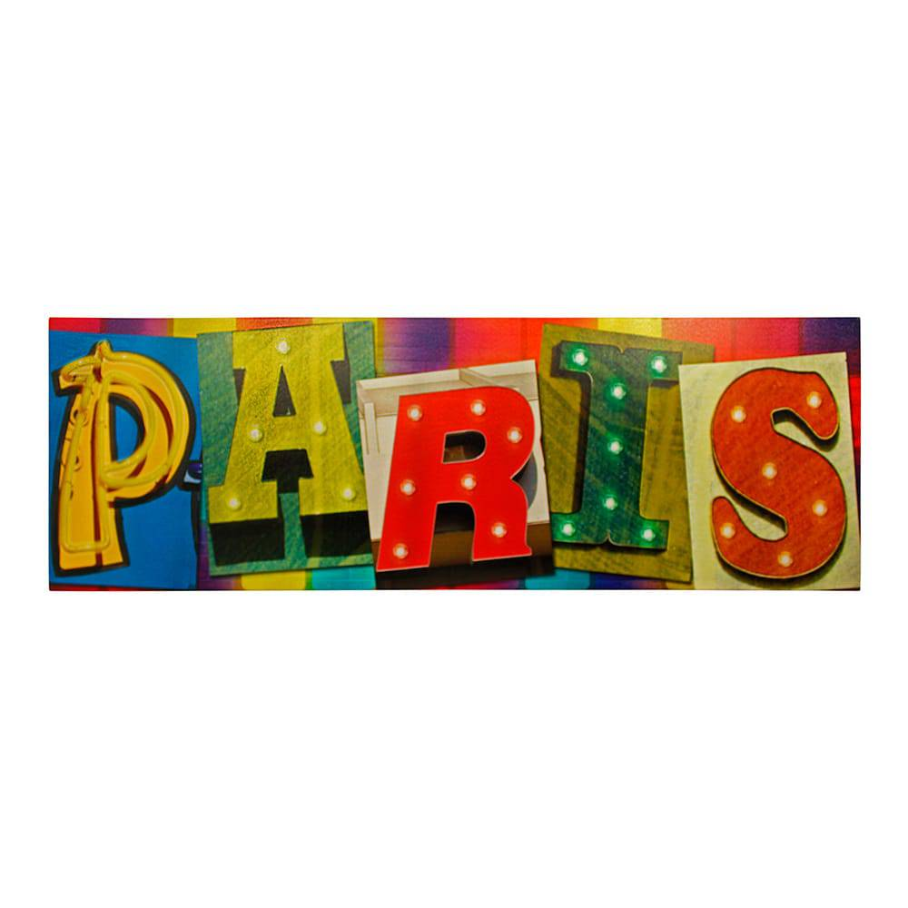 Tela Impressa com Led Paris Fullway - 50x150x4 cm
