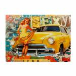Tela Impressa com Led Pin Up Sexy Fullway - 60x80x3 cm