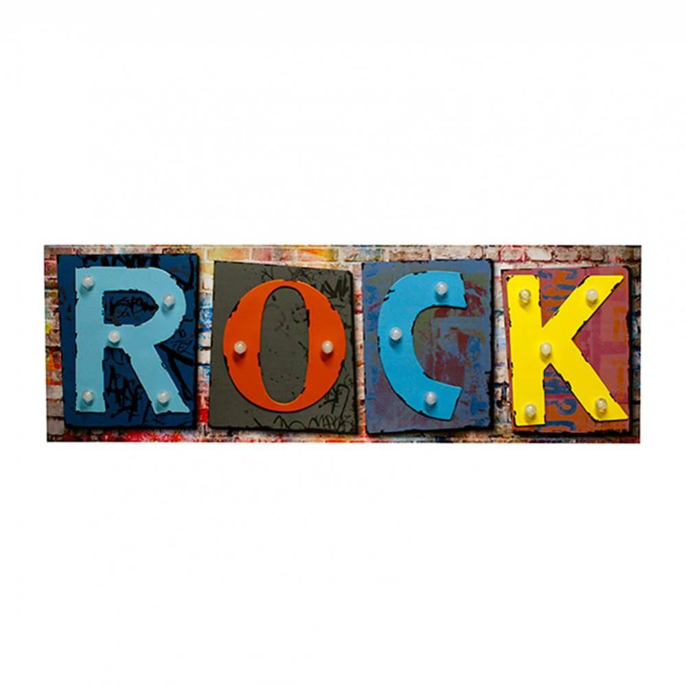 Tela Impressa com Led Rock Fullway - 40x120x5,5 cm