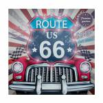 Tela Impressa com Led Route 66 Pink Fullway - 80x80x4 cm