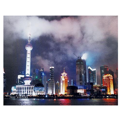 Tela Impressa com LEDs Xangai City Fullway - 80x100 cm