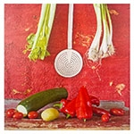 Tela Impressa Legumes Vermelhos Fullway - 100x100 cm