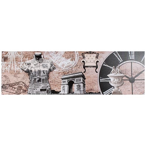Tela Impressa Manequim Retrô Paris Fullway - 30x100 cm