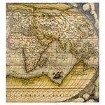 Tela Impressa Mapa Oriental Fullway - 100x100 cm