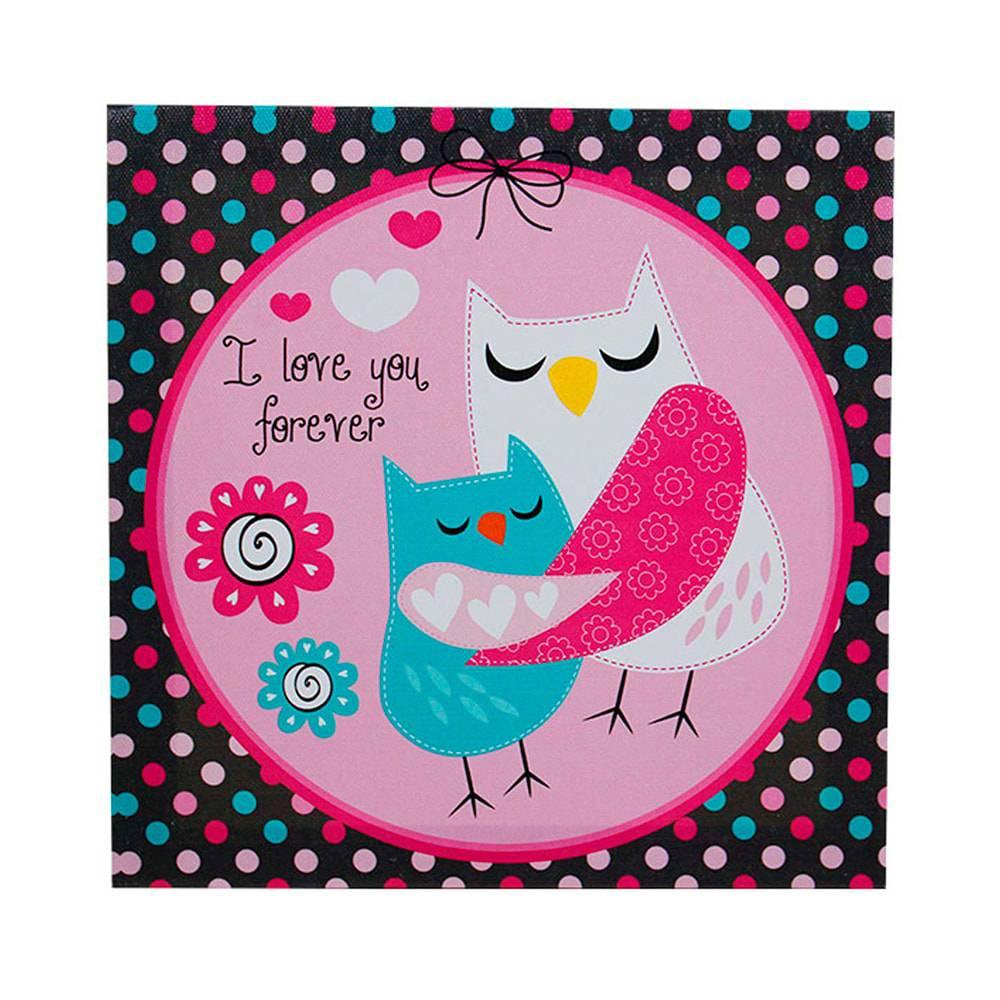 Tela Impressa Mom Owl Fullway - 20x20x4 cm