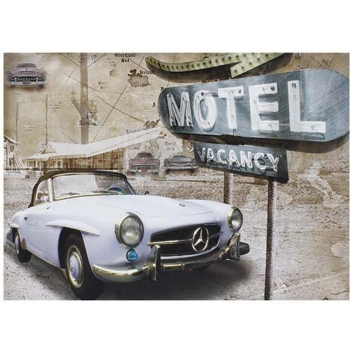 Tela Impressa Motel Vacancy Mercedes Fullway - 50x70 cm