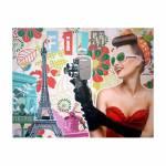 Tela Impressa Mulher com Câmera Fullway - 80x100x4 cm