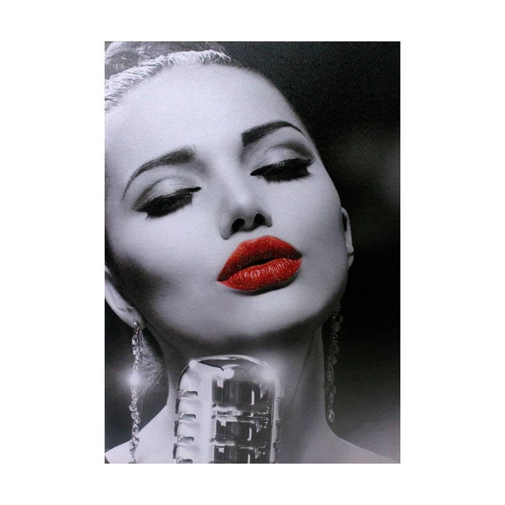 Tela Impressa Mulher Cantora Fullway - 70x50x3 cm
