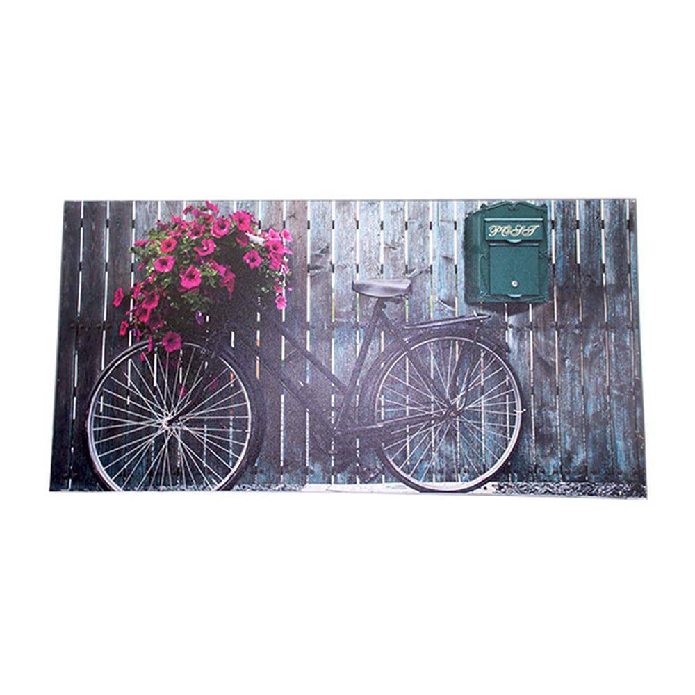 Tela Impressa Old Bicicle Flower Oldway - 80x160x4 cm
