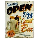 Tela Impressa Open Cerveja Coast Bar Fullway - 40x30 cm