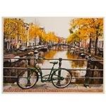 Tela Impressa Paisagem Bike Verde Fullway - 80x60 cm