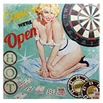 Tela Impressa Pin Up Blond Cassino Fullway - 60x60 cm
