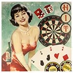 Tela Impressa Pin Up Cassino Fullway - 60x60 cm