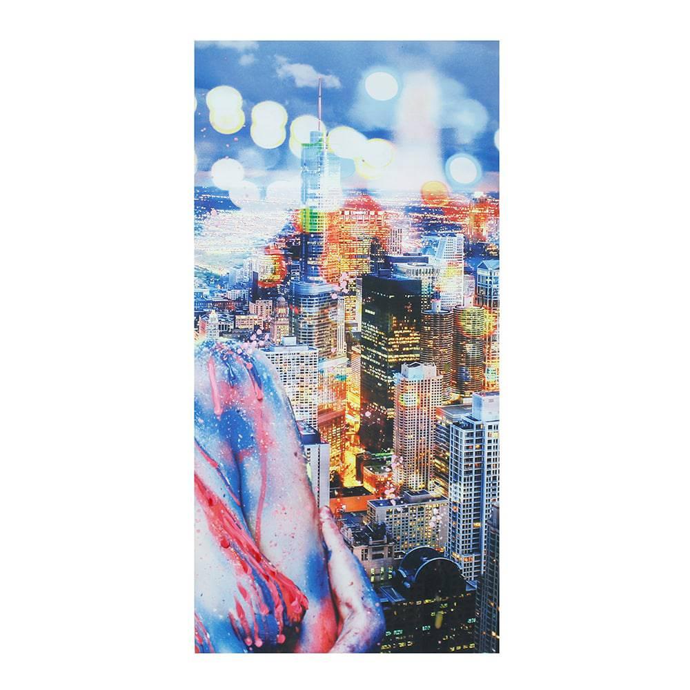 Tela Impressa e Pintada a Mão City Fullway - 80x160x4 cm