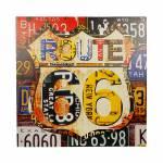 Tela Impressa Placas Route 66 Fullway 60x60x4cm