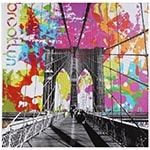 Tela Impressa Ponte Brooklyn Colorida Fullway