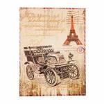Tela Impressa Postal Paris Oldway - 30x40x3 cm