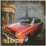Tela Impressa Red Car Jalopy Oldway