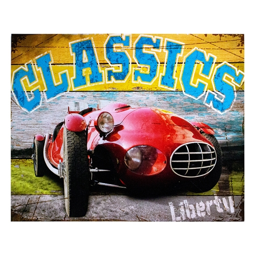 Tela Impressa Red Car Liberty Fullway - 100x80 cm