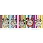 Tela Impressa Relógios Fundo Colorido Fullway - 30x100 cm