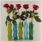 Tela Impressa Rosas Vermelhas nos Vasos Fullway