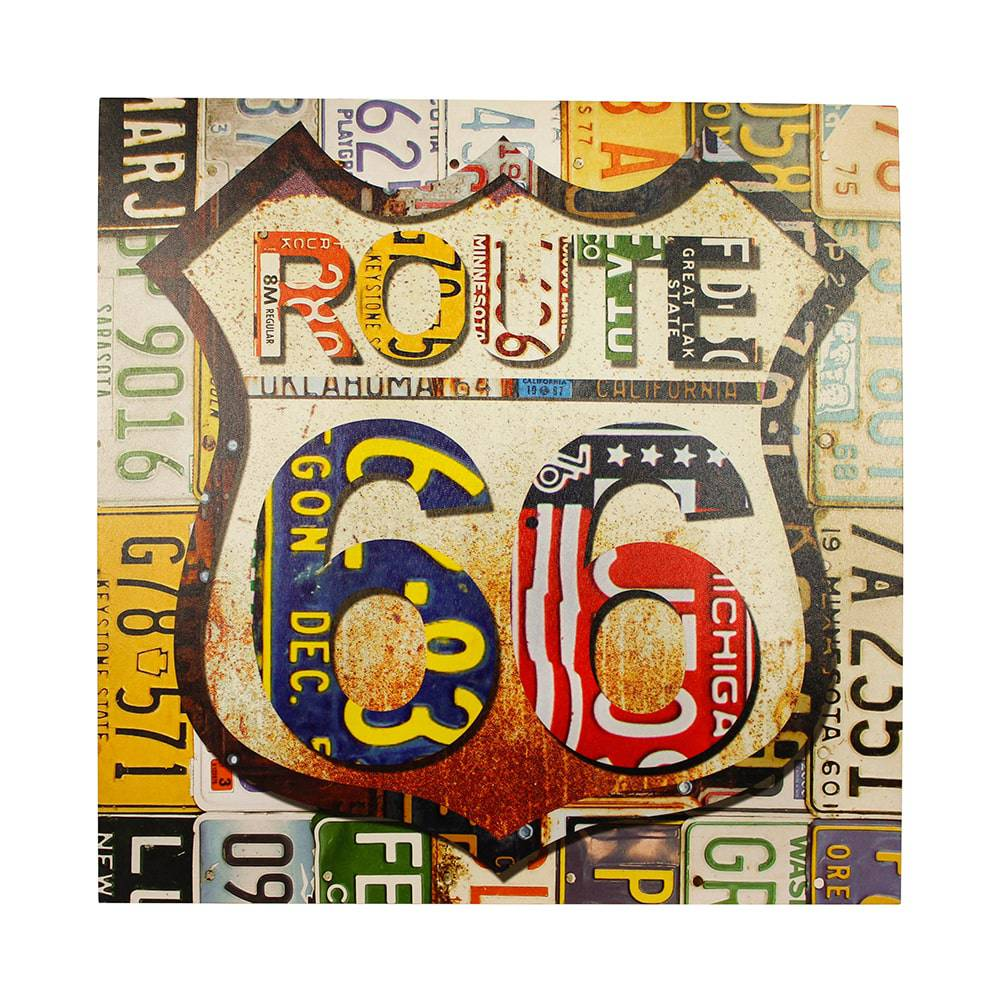 Tela Impressa Route 66 Fullway - 60x60x4 cm