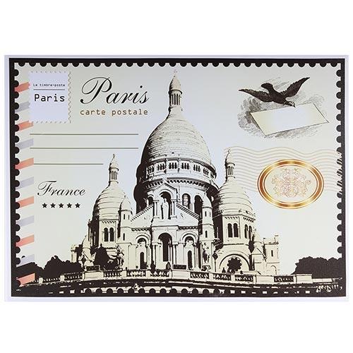 Tela Impressa Selo Paris Carte Postale Fullway - 50x70 cm
