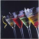 Tela Impressa Taças de Martini Fullway