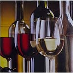 Tela Impressa Taças de Vinho Fullway - 40x40 cm