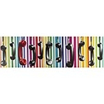 Tela Impressa Telefones Fundo Colorido Fullway - 30x100 cm