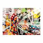 Tela Impressa The Kiss Brooklin Fullway - 100x140x4 cm