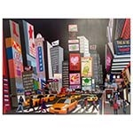 Tela Impressa Time Square Art com LED Fullway - 158x120 cm