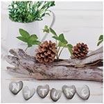Tela Impressa Tronco c/ Pinhas Nature Fullway - 20x20 cm