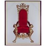 Tela Impressa Trono Vermelho Fullway - 60x50 cm