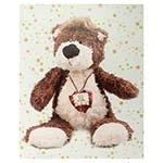 Tela Impressa Urso de Colar Fullway - 50x40 cm