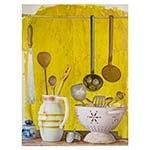 Tela Impressa Utensílios de Cozinha Fullway - 113x85 cm