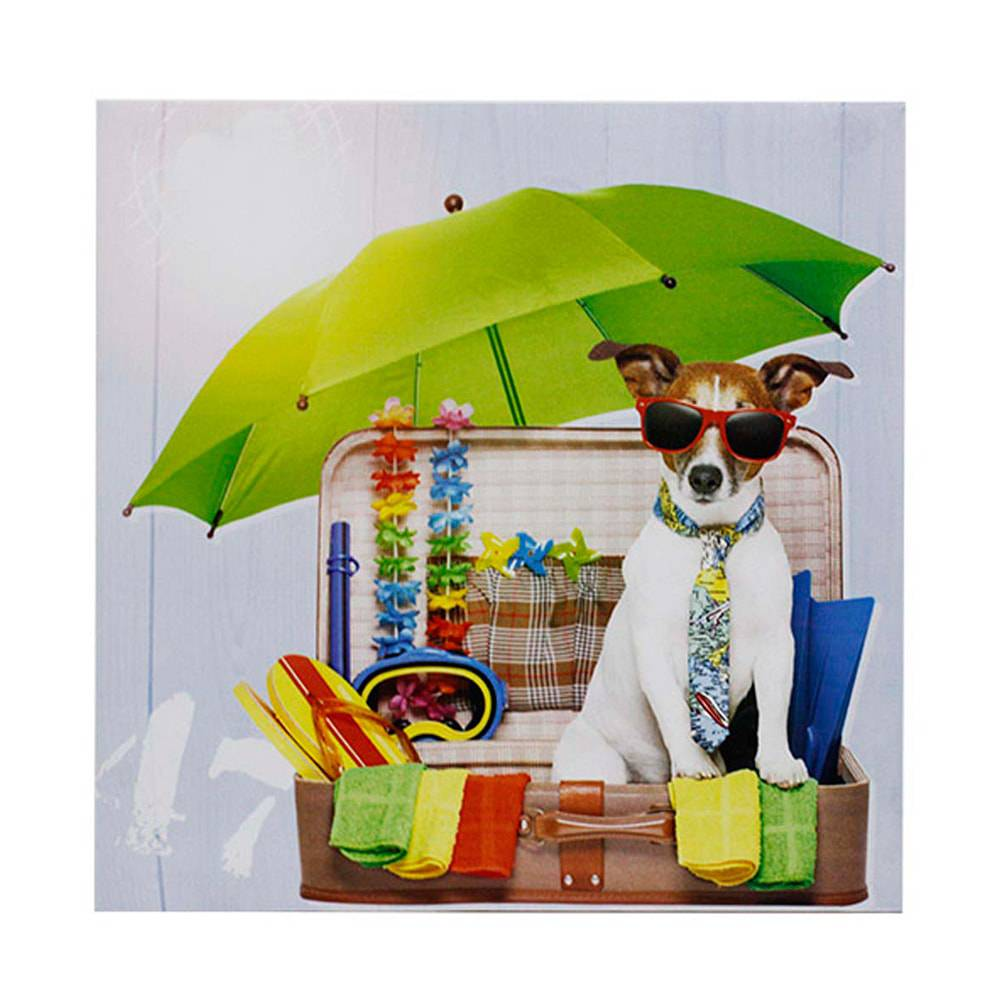 Tela Impressa Vacation Fashion Dog Fullway - 40x40x1,8 cm