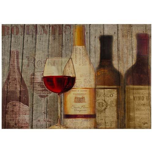Tela Impressa Vinho Tinto Fullway - 50x70 cm