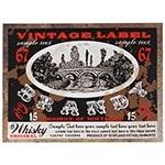 Tela Impressa Vintage Label Brandy Fullway