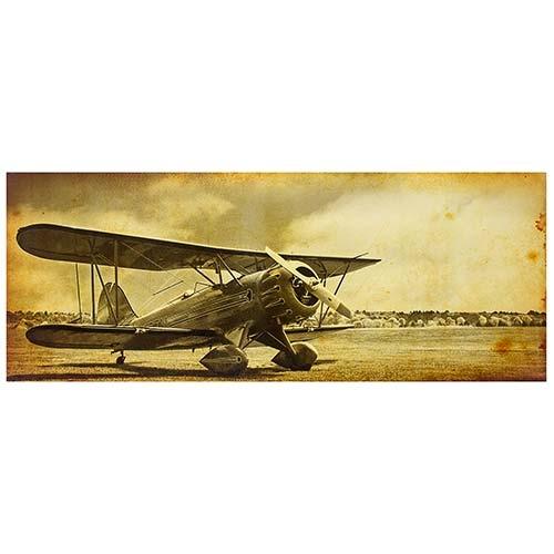 Tela Impressa Vintage Plane Fullway - 150x60 cm