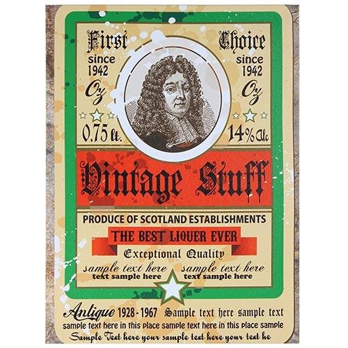 Tela Impressa Vintage Stuff Fullway - 40x30 cm