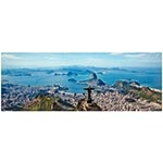 Tela Impressa Vista Panorâmica do Corcovado Fullway - 150x60 cm