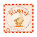Tela Impressa Welcome Duck Oldway - 28x28x4 cm