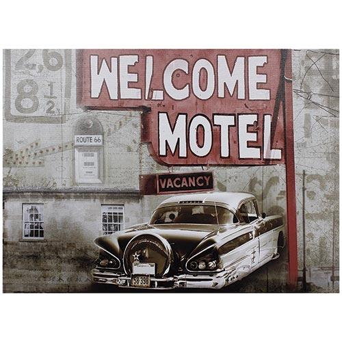 Tela Impressa Welcome Motel Fullway - 50x70 cm