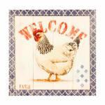 Tela Impressa Welcome Oldway - 28x28x4 cm