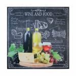 Tela Impressa Wine And Food Cheese Fullway - 100x100x4 cm