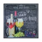 Tela Impressa Wine And Food Fullway - 100x100x4 cm