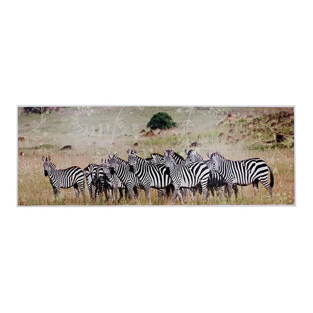 Tela Impressa Zebras na África Fullway - 70x195x4 cm